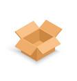 opened isometric cardboard box vector image vector image