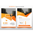 orange triangle abstract annual report brochure vector image vector image