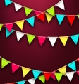 Party Background with Colorful Bunting Flags for vector image vector image