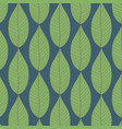 pattern of green leaves background vector image vector image