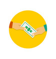 payment icon in flat style vector image