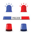 police light icon set vector image