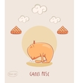 Red Yoga Cat in Camel pose vector image vector image