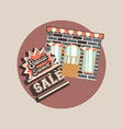 retro shopping style vector image vector image