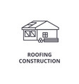 roofing construction line icon sign vector image