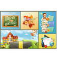 School education and schoolchildren set of vector image vector image