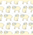 seamless pattern background with cute sheep vector image