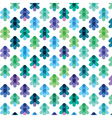 seamless pattern from the stylized Christmas trees vector image vector image