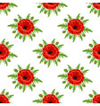 seamless pattern with poppies isolated on white vector image vector image