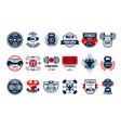 set of original gym logo templates emblems vector image vector image