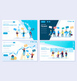 set web page for distance education e-learning vector image vector image