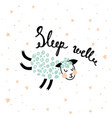 sleeping sheep vector image vector image