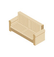 sofa isometric icon vector image
