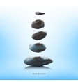 SPA stones on a blue background vector image vector image