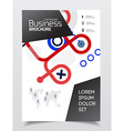 Startup presentation layout or business flyer vector image vector image