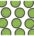 tennis ball sport seamless pattern vector image vector image