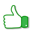 thumbs up of a hand like vector image vector image