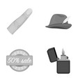 trade textiles leisure and other monochrome icon vector image vector image