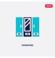 two color wardrobe icon from furniture concept vector image vector image