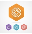 Two plaster icon Patch flat icons vector image vector image