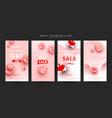 valentines day instagram sale story set flying vector image vector image