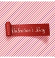 Valentines Day realistic red festive Tag vector image vector image