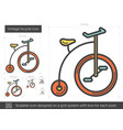 vintage bicycle line icon vector image vector image