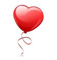 red heart balloon vector image