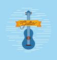guitar jazz instrument musical festival vector image