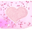 Valentines day Greeting card EPS8 vector image