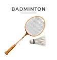 3d badminton shuttlecock white mock up vector image