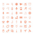 49 plant icons vector image vector image