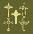 a set of christian crosses vector image vector image