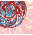 abstract bright background with spiral vector image vector image