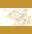 abu dhabi uae city map in retro style in golden