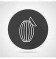 Ambu bag black round icon vector image vector image