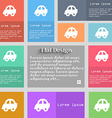 Auto icon sign Set of multicolored buttons Metro vector image vector image