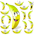 banana cartoon vector image vector image