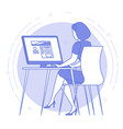 best place for remote work vector image vector image