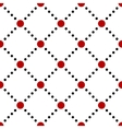 Black white red dotted squares simple seamless vector image vector image