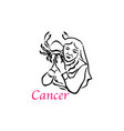 cancer woman vector image