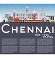 Chennai Skyline with Gray Landmarks vector image vector image