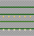 christmas garlands - set of modern vector image vector image