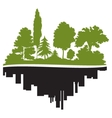 City and forest vector image vector image