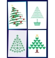 Collection of Christmas trees 01 vector image