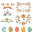 Colorful Easter collection vector image