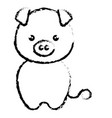 cute and tender piggy kawaii style vector image