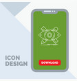 design designer sketch tools line icon in mobile vector image