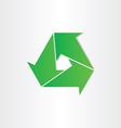eco recycle symbol green arrows vector image vector image