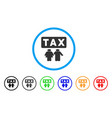 family tax pressure rounded icon vector image vector image